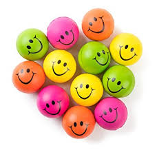 be happy neon colored smile stress