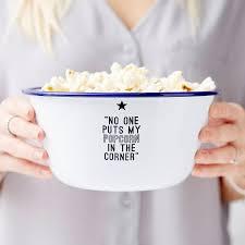 quote joy movie personalised movie quote enamel popcorn bowl u2013 sophia victoria joy