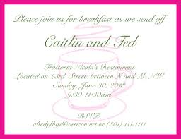 post wedding brunch invitation hot pink invitation card to a morning after the wedding brunch