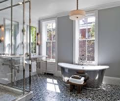 black and white patterned floor tiles in bathroom flooring ideas