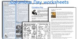 english teaching worksheets columbus day