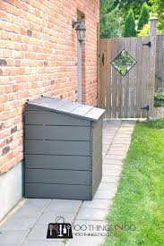 trash can enclosure diy diy outdoor garbage bin trash can shed