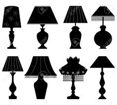Black And White Table Lamps Table Lamp Light Black Royalty Free Cliparts Vectors And Stock