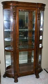 pulaski curio cabinet costco pulaski curio cabinet appealing furniture curio curved end paw foot