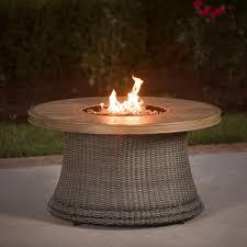 Agio Wicker Patio Furniture - agio san rafael 5 person wicker deep seating set with fire pit