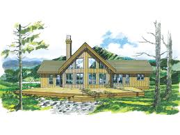 A Frame Home Floor Plans Enchanted Place A Frame Home Plan 062d 0054 House Plans And More