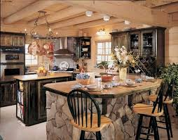 kitchen rock island this may just be my kitchen log home rock island cabinet