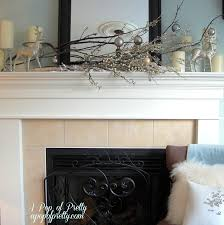 fireplace charming decorating mantels with christmas ornament and
