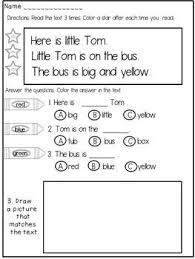 kindergarten reading passage 19 best kinder images on guided reading teaching