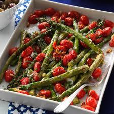 roasted asparagus u0026 tomatoes recipe taste of home