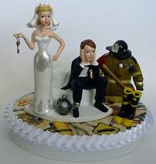 fireman cake topper wedding cake toppers occupation work funweddingthings
