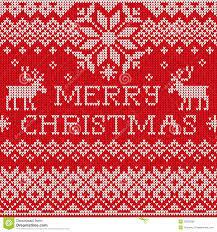 knit christmas merry christmas scandinavian style seamless knitted pattern wit