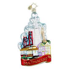 radko ornaments san francisco ornament the city by the bay