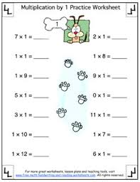 11 Multiplication Table Printable Multiplication Table Multiplying By One