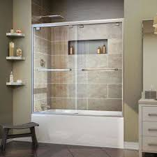Tub With Shower Doors Bathtub Doors Bathtubs The Home Depot