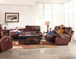 Leather Reclining Sofa Set by Catnapper Wembley Top Grain Italian Leather Leather Lay Flat