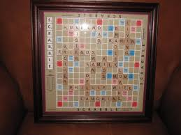 personalized scrabble board wall art framed picture home interior
