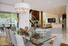 Dining Table And Fabric Chairs Modern Interior Design Luxury Dining Room With Glass Dining Table