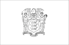 new jersey state flag coloring page funycoloring