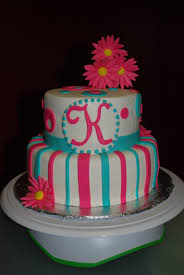 turquoise and pink wedding cake party themes inspiration