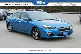 2017 subaru impreza sedan blue used 2017 subaru impreza for sale in norwich vt 4s3gkau66h3621458