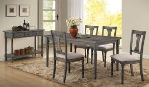 5 pc dining table set wallace weathered grey blue washed 5 piece dining table set