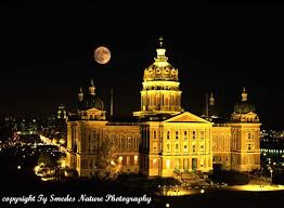 Iowa how long does it take to travel to the moon images State capitol with full moon jpg