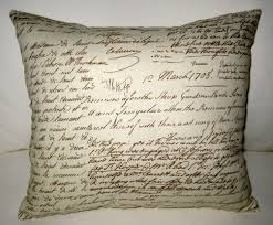 antique french writing pillow shabby chic french country cushion