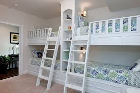 Traditional Kids Bedroom With Built In Bunk Beds  Builtin - Kids built in bunk beds