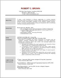 resume examples objective formal bw simple resume objectives