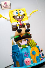 spongebob cake ideas spongebob cakes cupcakes design ideas on craftsy