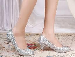 wedding shoes low heel silver silver heels qu heel
