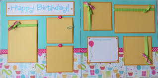 premade scrapbooks premade 12x12 scrapbook pages birthday layout happy