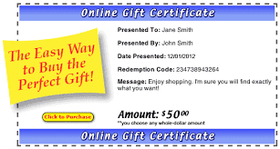 online gift certificates the gift for any occasion online gift certificates