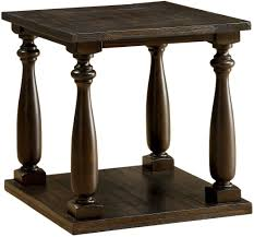 dark walnut end table furniture of america luan dark walnut end table luan collection 8