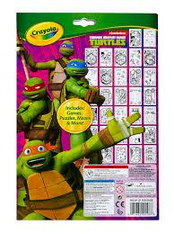 crayola teenage mutant ninja turtles coloring u0026 activity pad