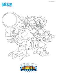 skylanders giants coloring pages to print skylander page super