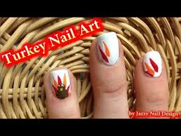 turkey nail easy thanksgiving nails for beginners no