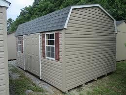 12x16 vinyl gambrel style dutch barn pine creek structures