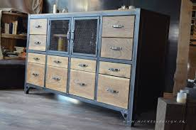 buffet de cuisine but buffet industriel cagne chic micheli design