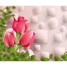 flower images walls and murals floral 3d wallpaper with red rose flower for