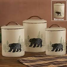 deere kitchen canisters rustic deer 3 canister set cabin place