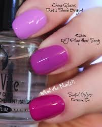 neon comparison post china glaze that u0027s shore bright essie dj
