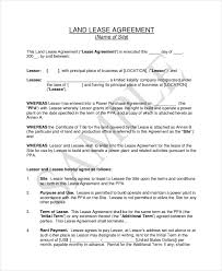 land lease agreement template sle land contract form 8 free documents in pdf doc