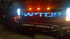 2014 Ford Raptor Truck Accessories - db customz 2010 2014 ford raptor led backlit grille 09frv214