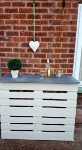 Wedding Guest Board From Pallet Wood Pallet Ideas 1001 by White Painted Pallet Bar With Concrete Tiles Top Jpg 720 1309
