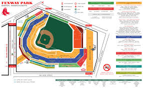 fenway park seating map fenway park concessions guide boston sox