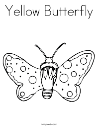 yellow butterfly coloring page twisty noodle