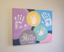family circle handprint canvas art with print kit circles any