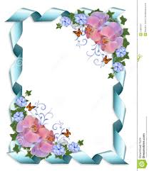 wedding invitation border orchids stock image image 15891651